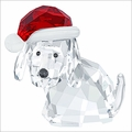 (SOLD OUT) Swarovski Dog with Santa's Hat
