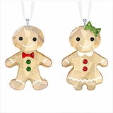 Gingerbread Couple Ornament Set