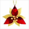 (SOLD OUT) Poinsettia Ornament, Gold Tone