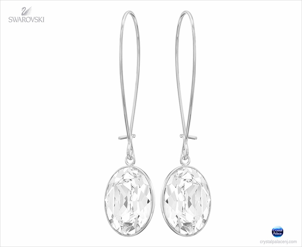 (SOLD OUT) Swarovski Puzzle Crystal Pierced Earrings