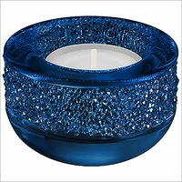 Swarovski Shimmer Tea Light Dark Blue
