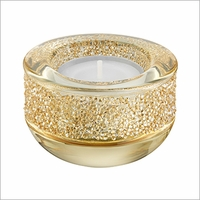 Swarovski Shimmer Tea Light, Golden Shadow