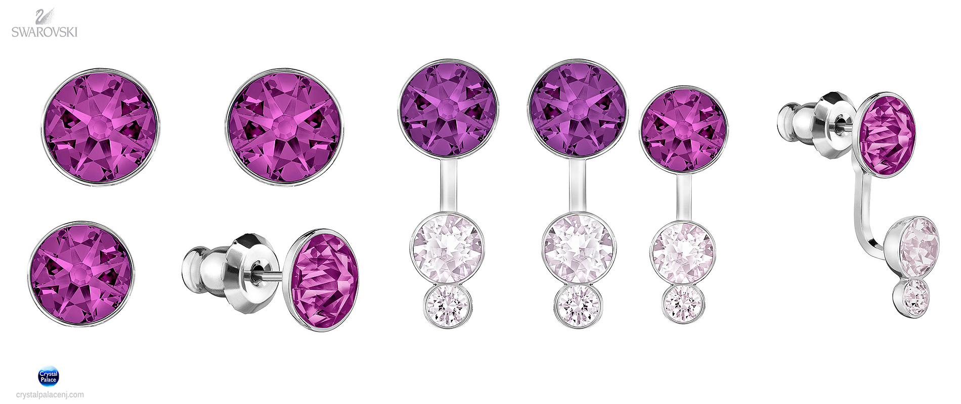731006e831d28 5201100 Swarovski Jewelry Slake Dot Pierced Earring Jackets purple