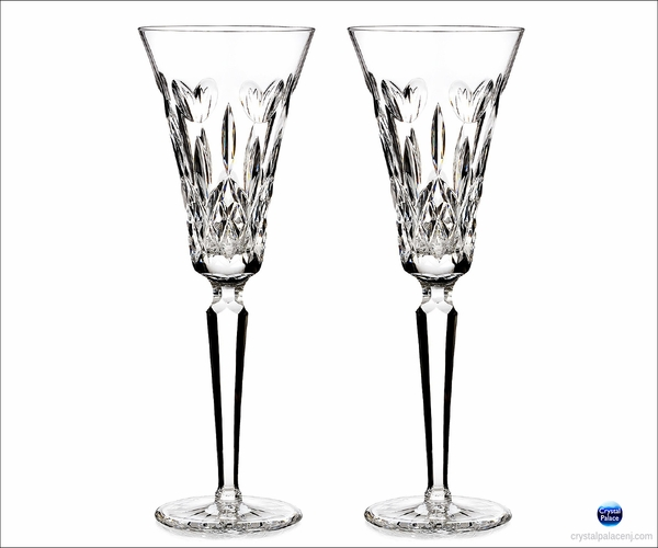 Waterford I Love Lismore Toasting Flute, Pair