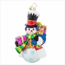 Top Hat Frosty  Radko Ornament