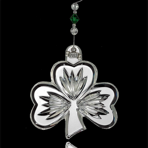 (SOLD OUT) Waterford 2013 Shamrock Christmas Ornament