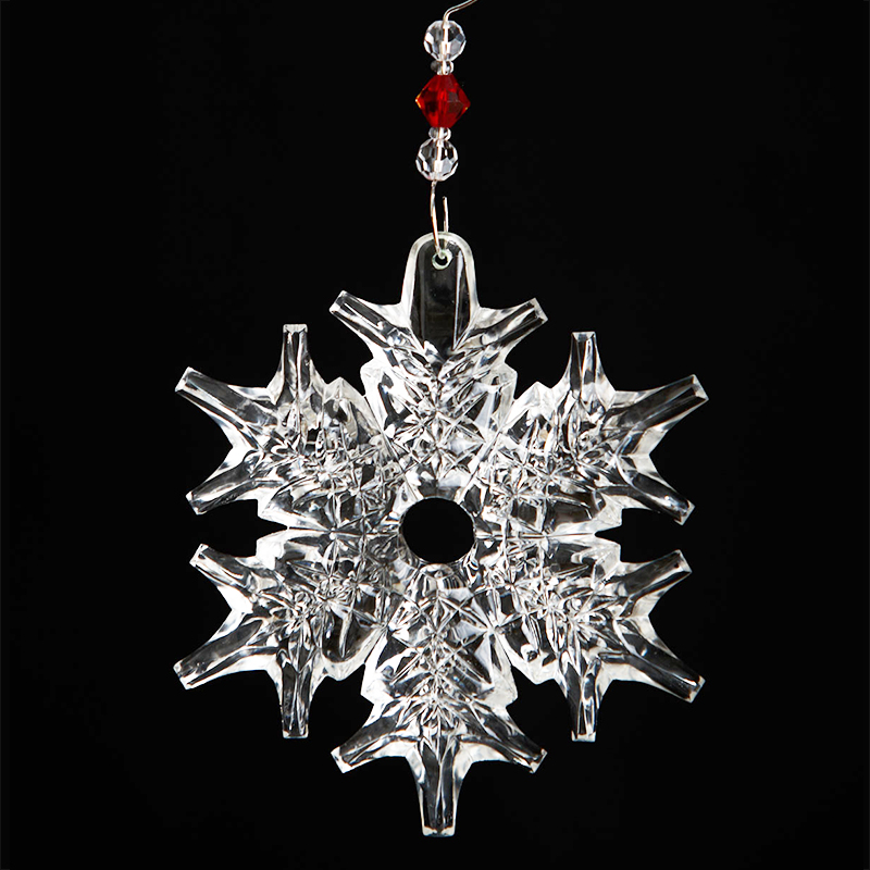 Waterford snow crystal pierced christmas ornament