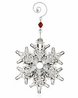 (SOLD OUT) Waterford 2013 Snow Crystal Pierced Christmas Ornament