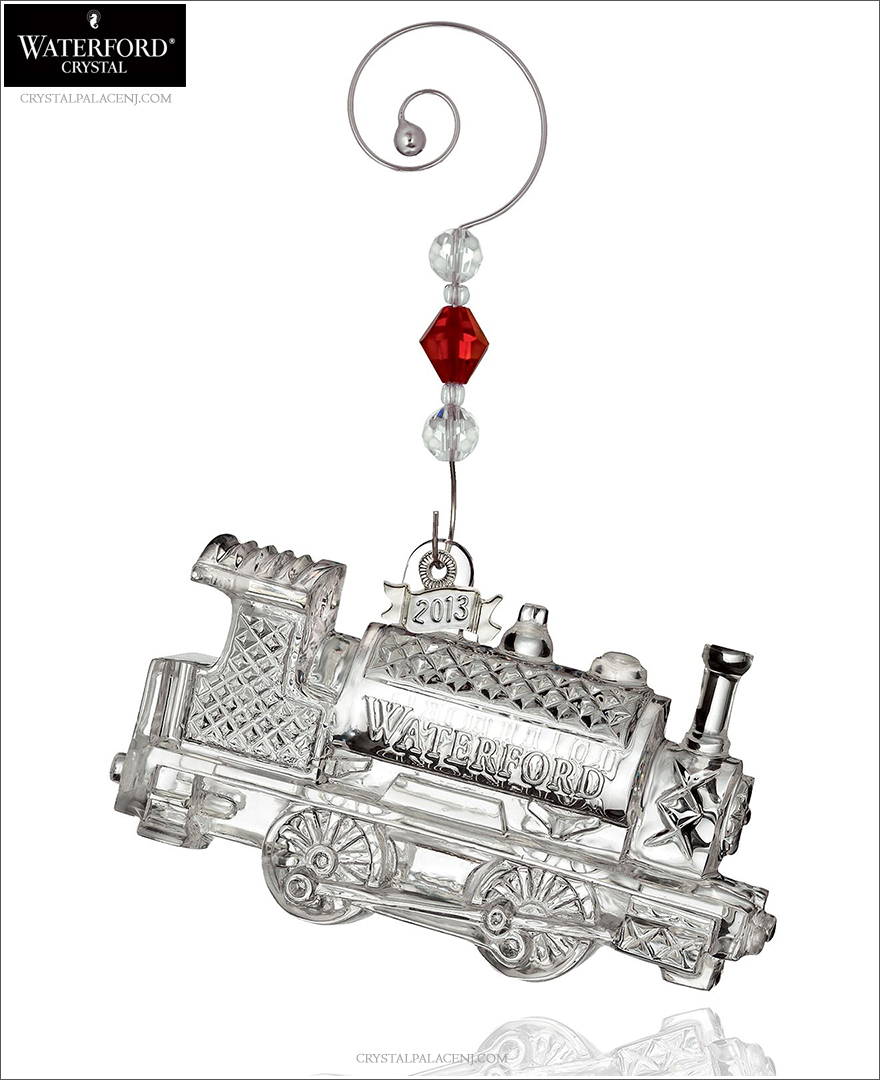 waterford 2013 train engine christmas ornament