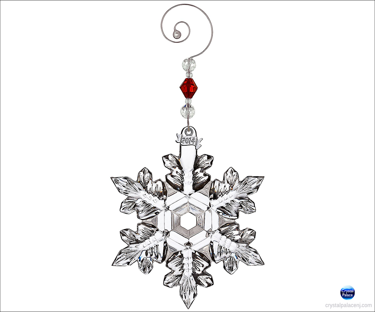 Waterford 2014 Snow Crystal Pierced Christmas Ornament