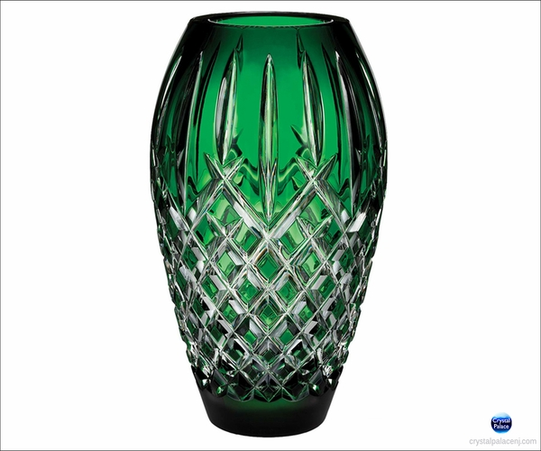 "(SOLD OUT) Waterford Araglin Prestige 9"" Emerald Green Vase"