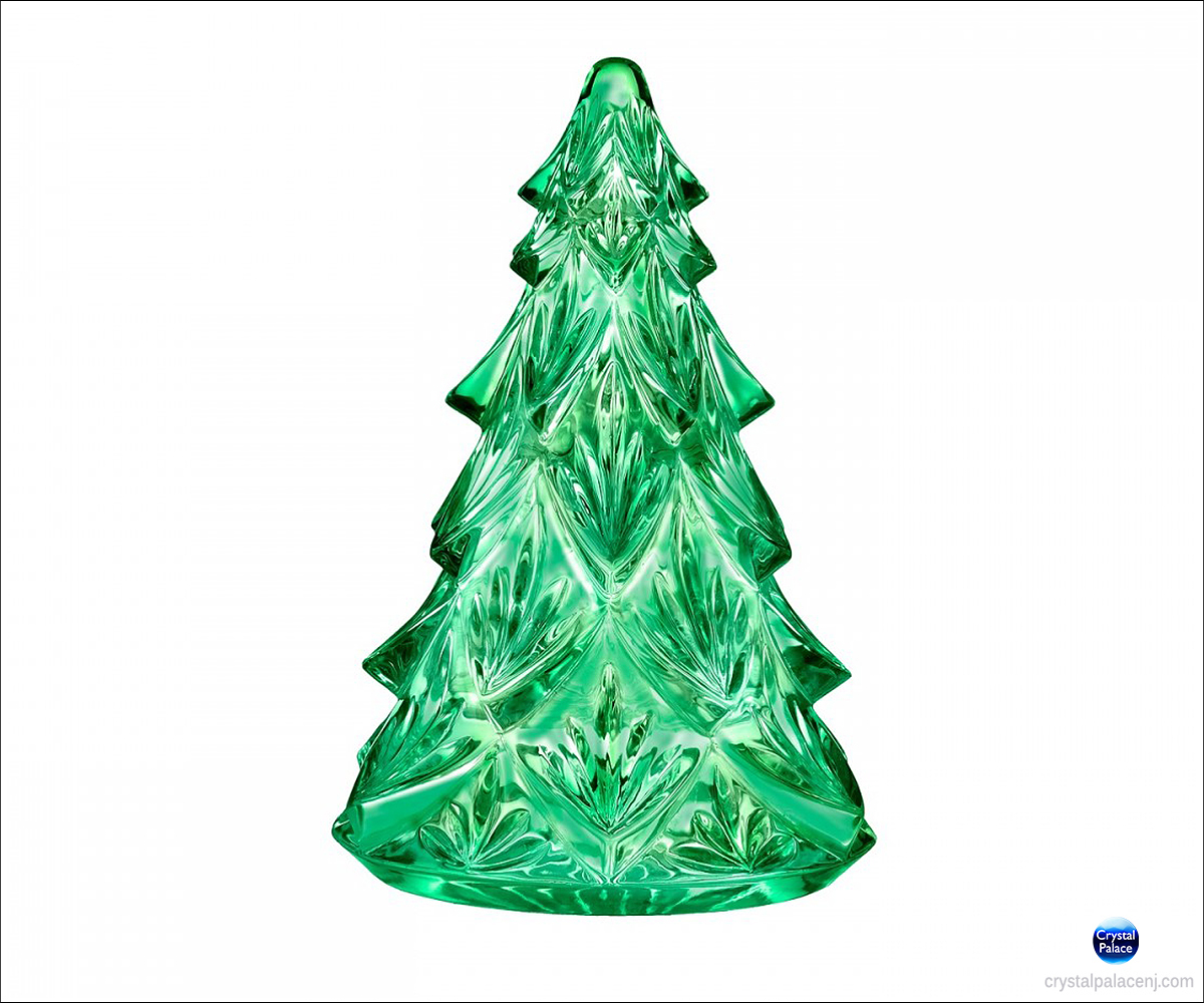 Waterford Christmas Ornaments.Waterford Christmas Tree Medium Sculpture Green