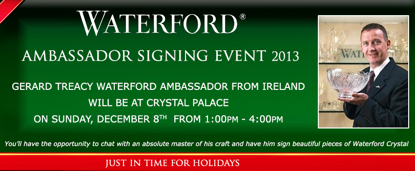 Waterford Crystal Ambassador in Store Signing Event