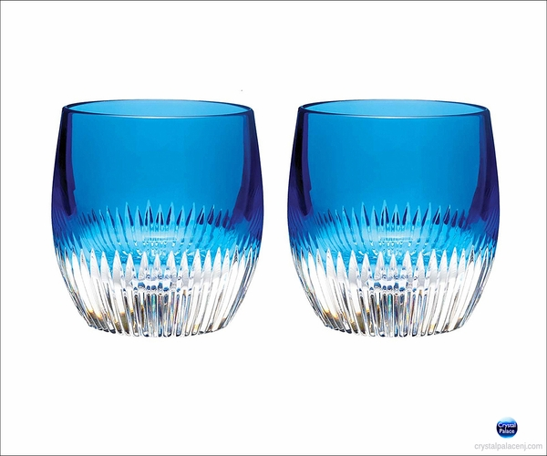 Waterford Crystal  Mixology Argon Blue Tumbler Set of 2