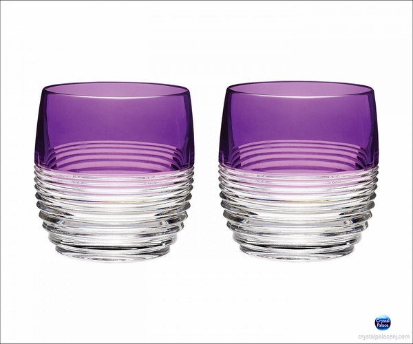 Waterford Crystal Mixology Circon Purple Tumbler, Set of 2