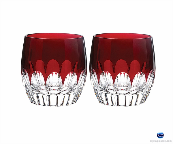(SOLD OUT) Waterford Crystal  Mixology Talon Red Double Old Fashioned, Set of 2
