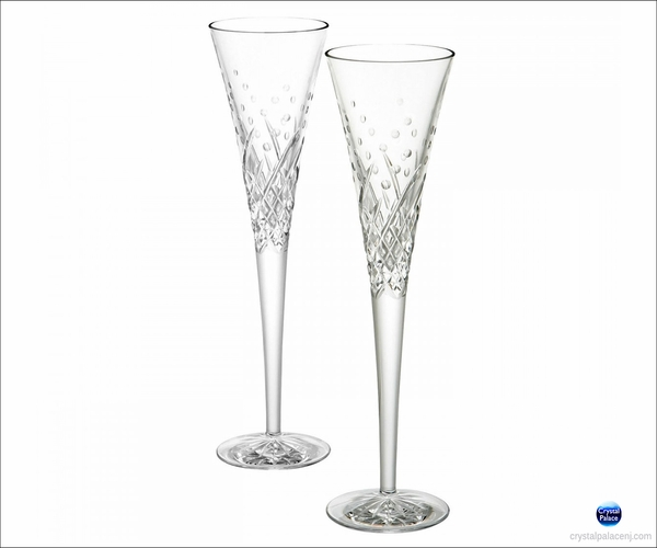 Waterford Happy Celebrations Flutes, Set of 2