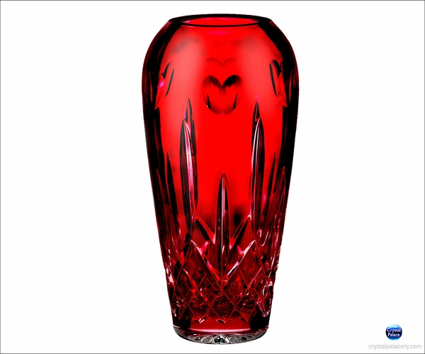 Waterford I Love Lismore Red Bud Vase