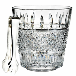 Irish Lace Ice Bucket with Tongs