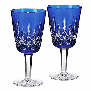 (SOLD OUT) Waterford Lismore Cobalt Goblet Set of 2