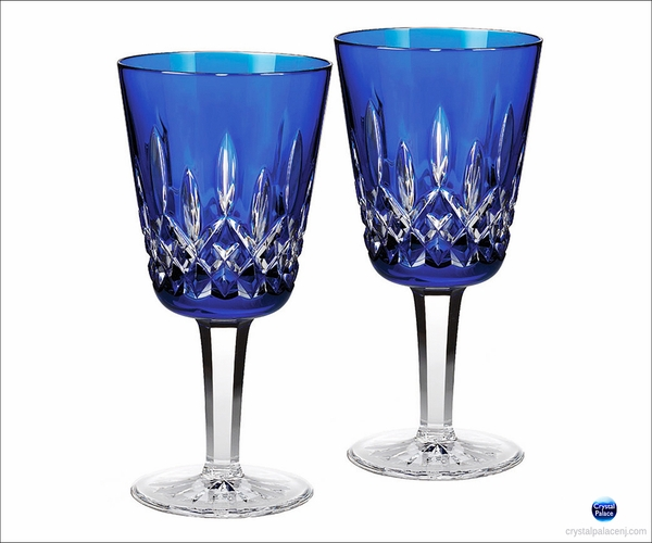 Waterford Lismore Cobalt Goblet Set of 2