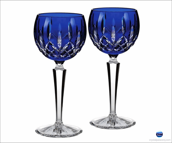 Waterford Lismore Cobalt Hock, Set of 2
