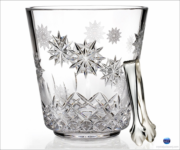 (SOLD OUT) Waterford Snowflake Wishes Ice Bucket with Tongs
