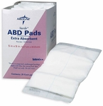 "Abdominal ABD Pads 5"" x 9"" Extra Absorbent Sterile Dressings, Medline"