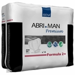 Abri-Man Premium Pads for Men, Formula 2 (Case of 168), # 41007