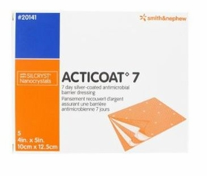 """ACTICOAT 7 Silver Dressing 4"""" x 5"""" by Smith & Nephew # 20141"""