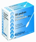 Alcohol Swabsticks (Box of 75) Dynarex # 1204