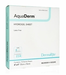 "AquaDerm Hydrogel Sheet Dressing 4"" x 4"" (Box of 10), # 00324E"