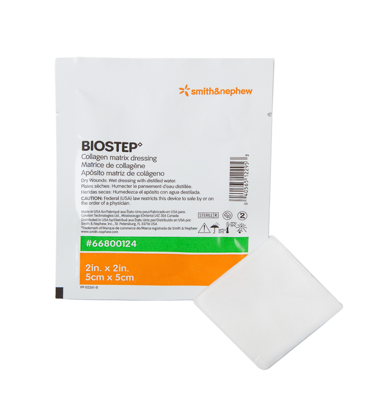 biostep biostep ag collagen matrix dressings by smith nephew. Black Bedroom Furniture Sets. Home Design Ideas