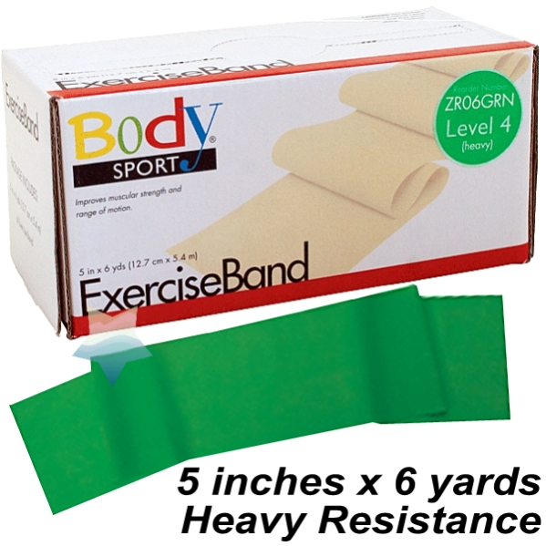 Body Sport Exercise Band Green Heavy