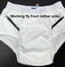 CareFor Ultra Men's Moderate Washable Cotton Odor Control Brief by Salk