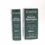 Caring Gauze Sponge Pads, Non-Sterile, 8ply & 12ply