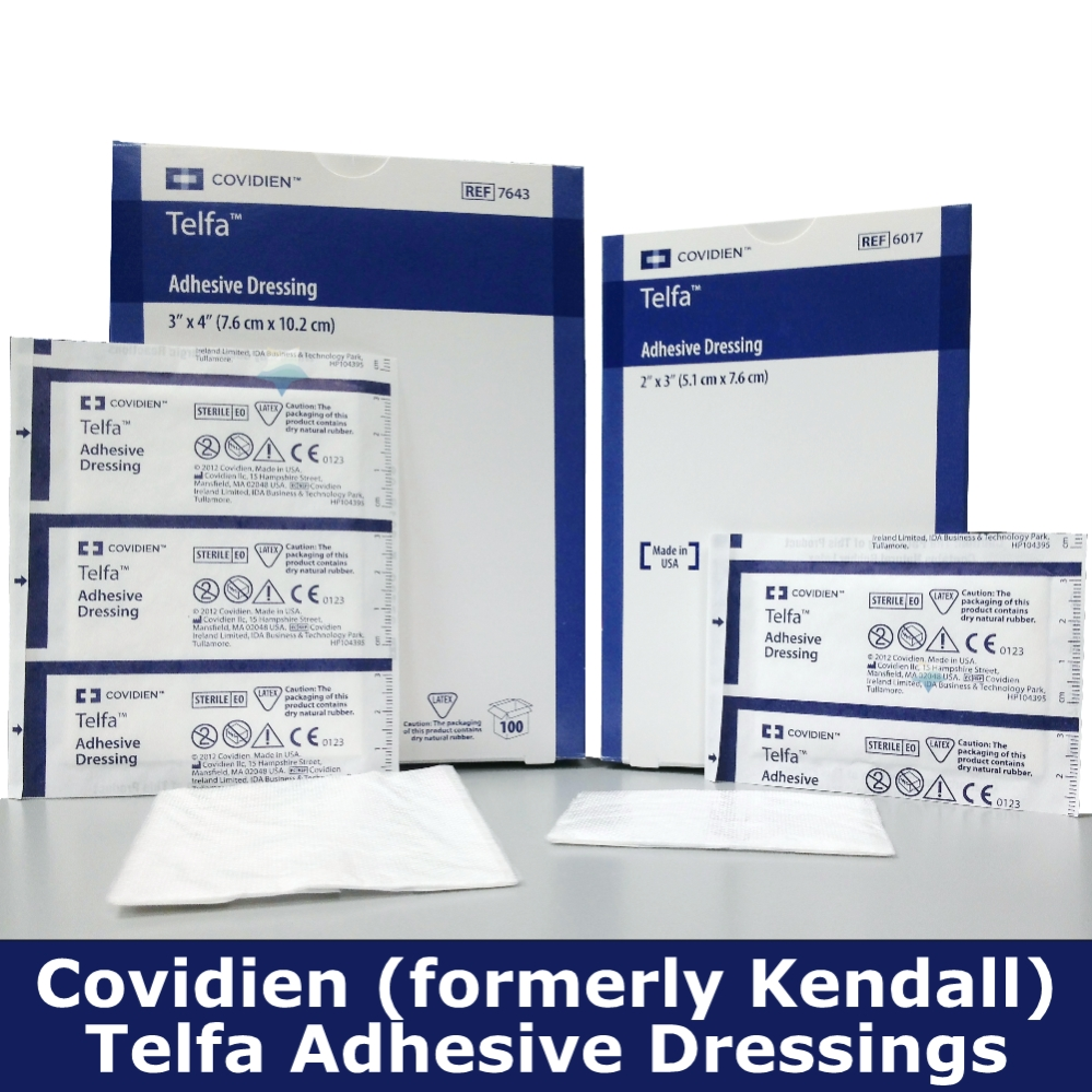 Covidien TELFA Ouchless Adhesive Pad Dressings (Formerly