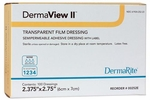 DermaView II Transparent Film Dressing with Frame Border, DermaRite