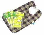 "Essential Plaid Flannel Deluxe Patient Bib, 18"" x 30"""