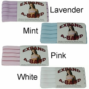 Expand-A-Band Compression Breast Bands for Women (Solid)