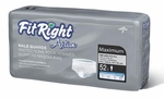 """FitRight Active Male Guards 6"""" x 11"""" Pads for Incontinence, # MSCMG02"""