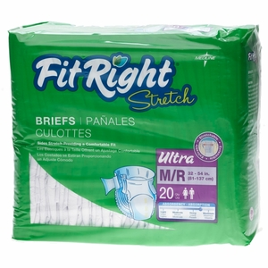 FitRight Stretch Ultra Adult Briefs by Medline