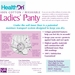 HealthDri Ladies' Moderate Incontinence Washable Cotton Panty