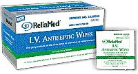 "IV Antiseptic Prep Wipes 1.25"" x 3"" by ReliaMed (Box of 75) # ZA50075"