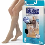 JOBST Opaque Knee High Stockings, 20-30mmHg, Closed Toe