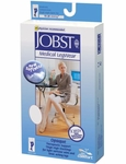JOBST Opaque Thigh High Stockings with Silicone Band, 15-20mmHg, Open Toe