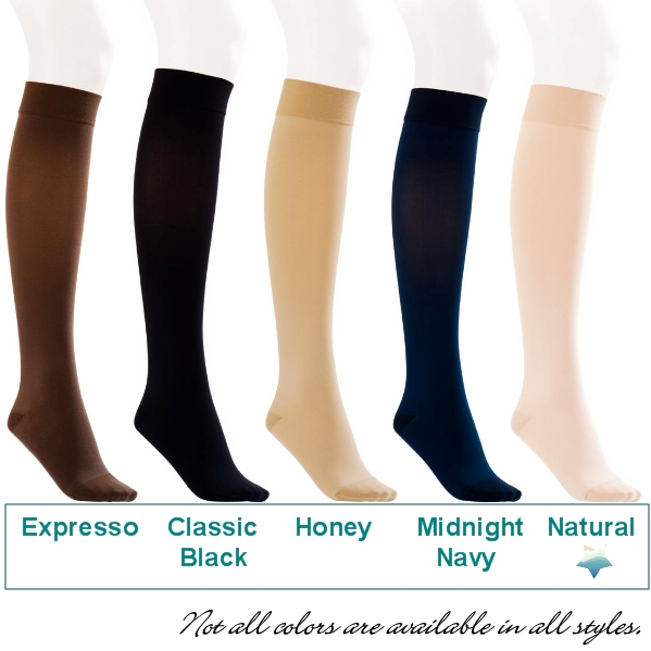 4ad1037714 JOBST Opaque Thigh High Stockings with Silicone Band, 20-30mmHg, Closed Toe