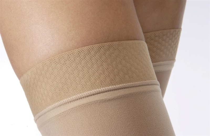 b5dc455df1 JOBST Opaque Thigh High Compression Stockings with Silicone Dot Band,  20-30mmHg, Open Toe
