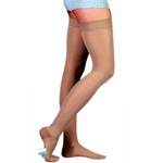 Juzo Basic Thigh High Compression Hose with Silicone Border, 4411AG (20-30)