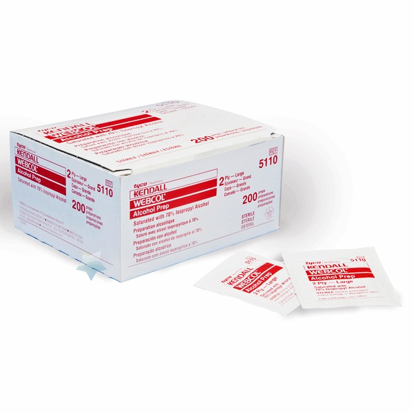 Kendall WEBCOL Alcohol Prep Pads (Medium) Box of 200 ...